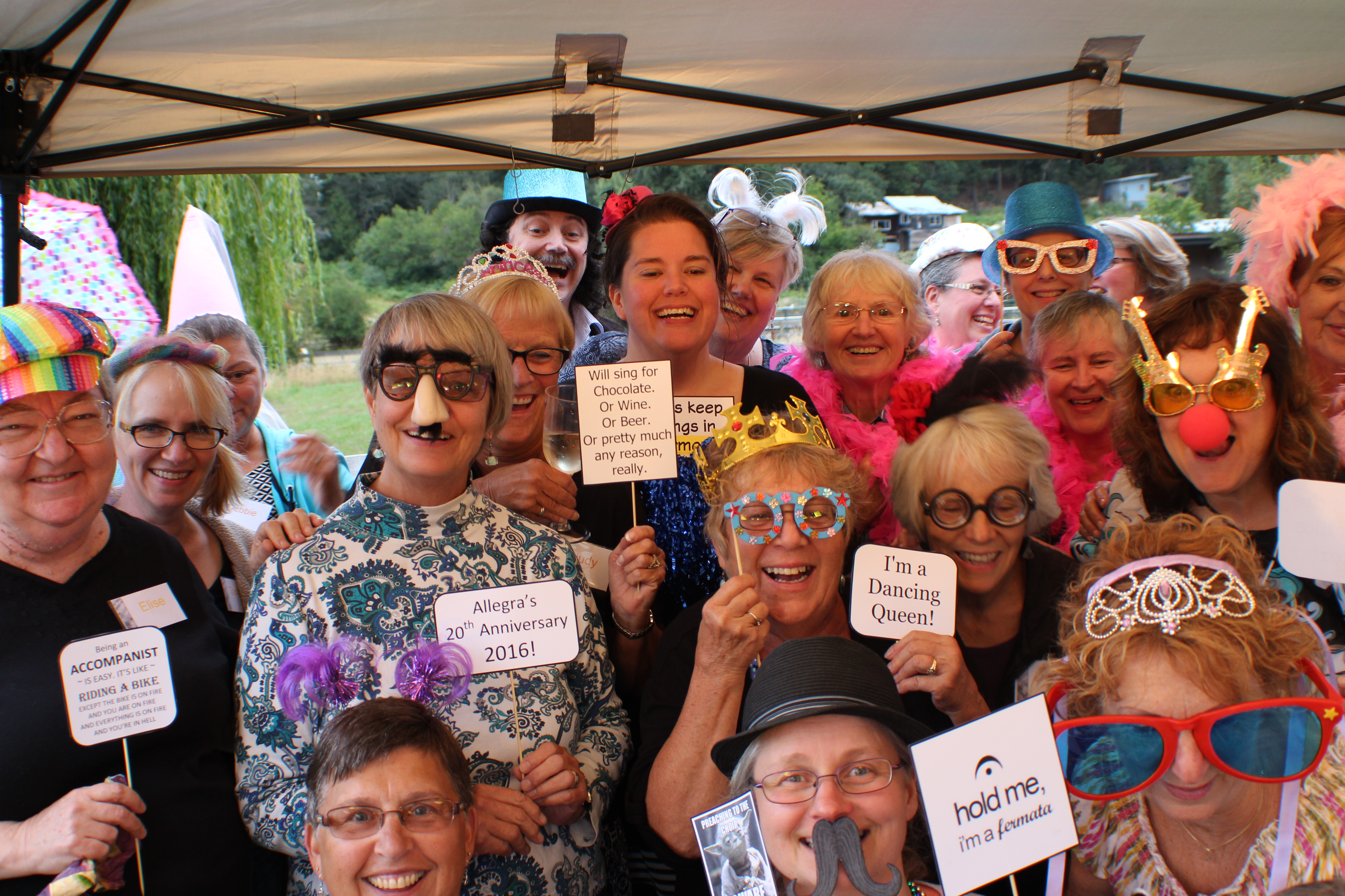 Allegra Singers Anniversary Fun